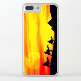 Egyptian supermoon Clear iPhone Case
