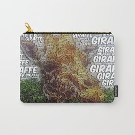 WordArt Giraffe Carry-All Pouch