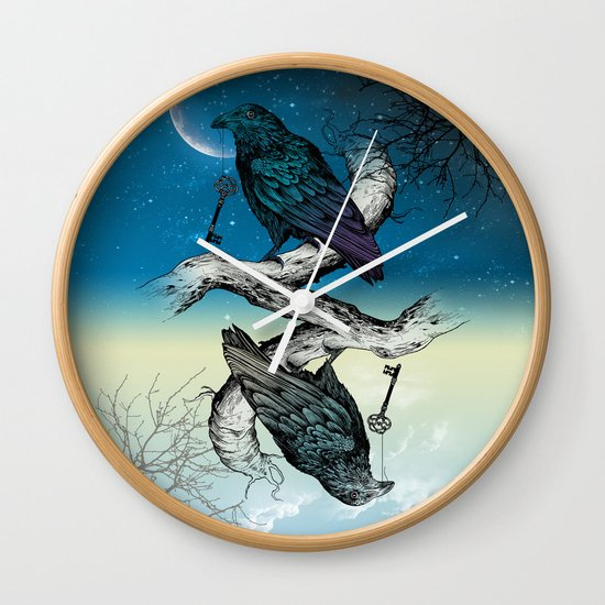 Raven's Key Night+Day Wall Clock