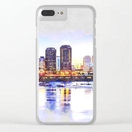 Richmond City Skyline Clear iPhone Case