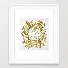 That's Life – Gold on Gold Framed Art Print