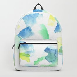 180527 Abstract Watercolour 9 | Watercolor Brush Strokes Backpack
