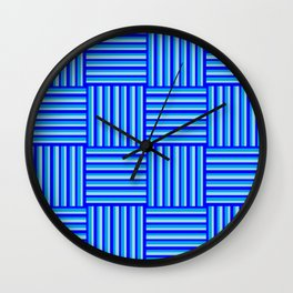 Havana Cabana - Blue Weave Stripe Wall Clock