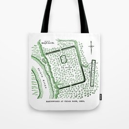 Earthworks at Cedar Bank Tote Bag
