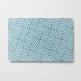 Circle Swirl Pattern VA Healing Aire Blue - Angelic Blue - Soothing Blue Metal Print