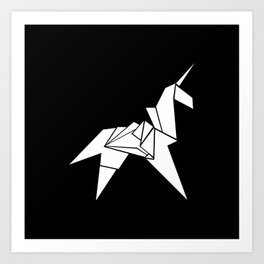 Unicorn Origami Art Print