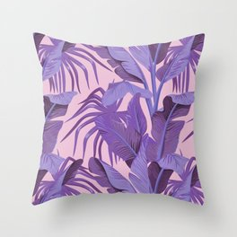 Tropical '17 - Starling [Banana Leaves] Throw Pillow