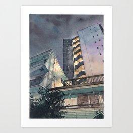Tokyo at Night 02 Art Print