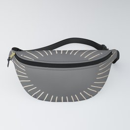 Simply Sunburst in White Gold Sands on Storm Gray Fanny Pack