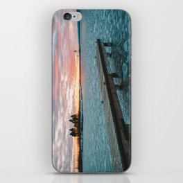Icy Harbor Sunset iPhone Skin