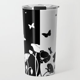 POPPIES AND BUTTERFLIES Travel Mug