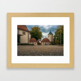 View to the entrance Framed Art Print