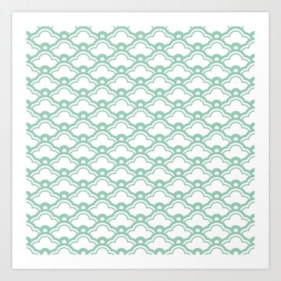 matsukata in grayed jade Art Print