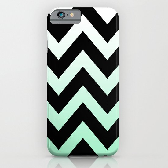 BLACK CHEVRON MINT FADE iPhone & iPod Case