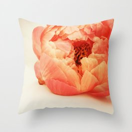 Single Peony Simplicity Throw Pillow