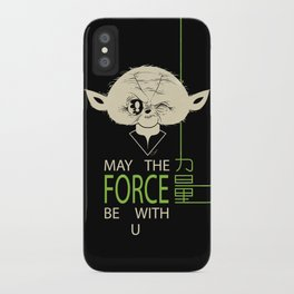 Starwars Yoda - May The Force Be With U iPhone Case
