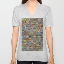 Greetings From Postcards Unisex V-Neck
