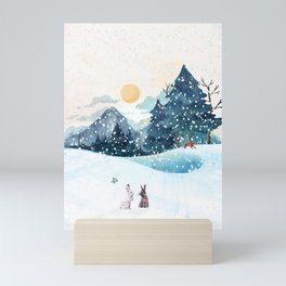 Happy Litlle Wildlife Mini Art Print