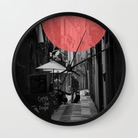 doge Wall Clocks featuring Venice Caffe del doge by the penny drops