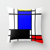 mondrian Throw Pillows featuring Mondrian by Fine2art
