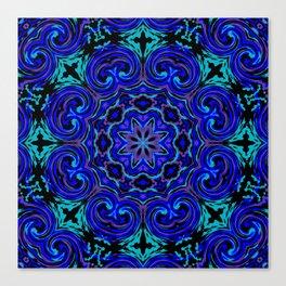 Bright Blue Kaleidoscope Canvas Print