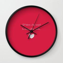 {Teacher - Big Heart} Wall Clock