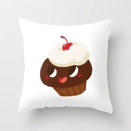 Baby Cakes - Red Velvet Cupcake Throw Pillow