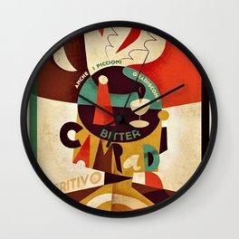 Vintage 1934 Manifesto Cordial Bitter Campari Aperitif Advertisement Poster Wall Clock