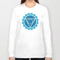 chakra Long Sleeve T-shirts featuring Throat Chakra by cosmicsenpai