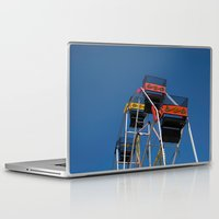 ferris wheel Laptop & iPad Skins featuring Ferris Wheel by Steve Purnell