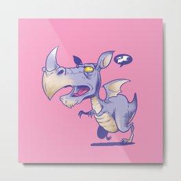 T Rhinosaurus Rex Metal Print
