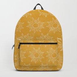 Sun pattern Backpack