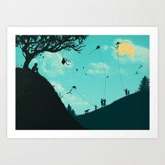 On Melancholy Hill Art Print