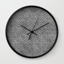60s - Black abstract pattern on concrete - Mix & Match with Simplicty of life Wall Clock