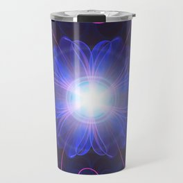 Beautiful Ultra Violet Fractal Nightshade Flower Travel Mug