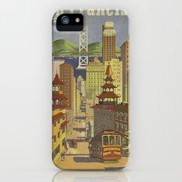 Vintage poster - San Francisco iPhone Case