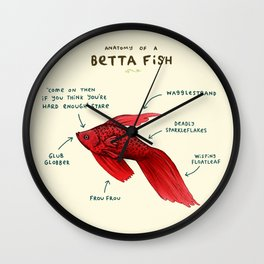 Anatomy of a Betta Fish Wall Clock