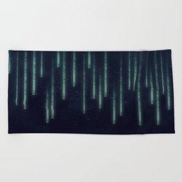 Nerd binary code Beach Towel