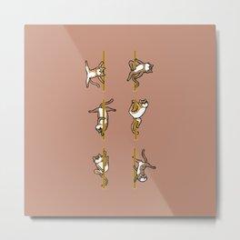 Cats Pole Dancing Club Metal Print