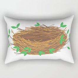 empty nest Rectangular Pillow