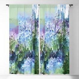 Wild Nature Glitch - Blue, Green, Ultra Violet #nature #homedecor Blackout Curtain