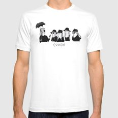 AHS Coven SMALL White Mens Fitted Tee
