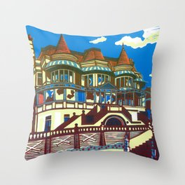 East Cliff Hall (Russell-Cotes Art Gallery & Museum) Throw Pillow