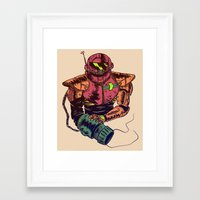 samus Framed Art Prints featuring Samus by Mike Regan
