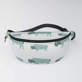 Bison And Baby (Moss) Fanny Pack