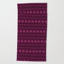 Dividers 07 in Purple over Black Beach Towel