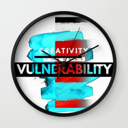 CreativityDEMANDSvulnerability Wall Clock
