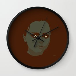 Christina Ricci looking to the right Wall Clock