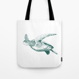 Kemp's Ridley Sea Turtle Tote Bag