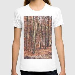 Birch wood in winter T-shirt